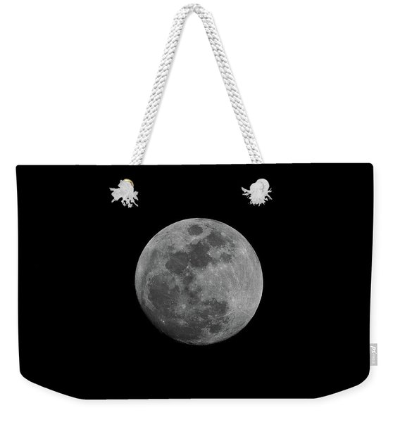 Weekender Tote Bag featuring the photograph Early Spring Moon 2017 by Jason Coward