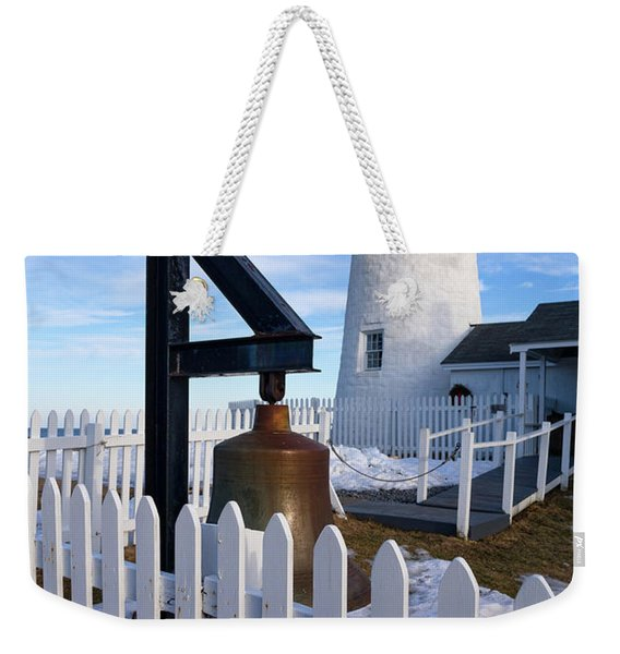 Weekender Tote Bag featuring the photograph Early Spring, Pemaquid Lighthouse, Maine  -71290 by John Bald