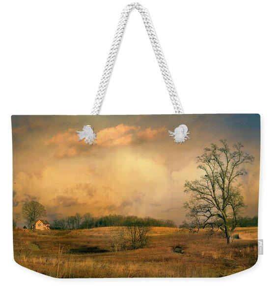 Early Spring Storm Weekender Tote Bag