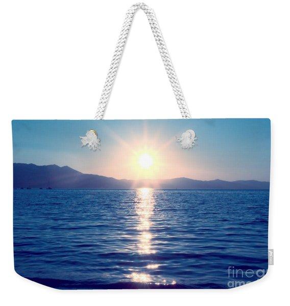 Early Sunset Weekender Tote Bag