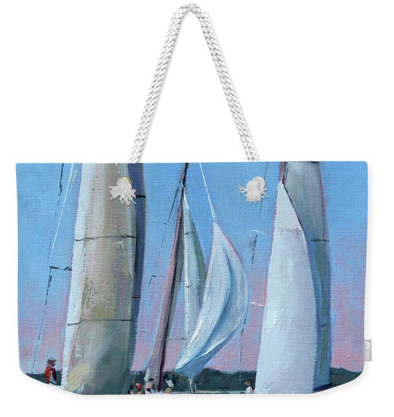Early Sunset Trio Weekender Tote Bag