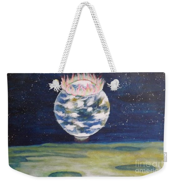 Earth Aura Weekender Tote Bag