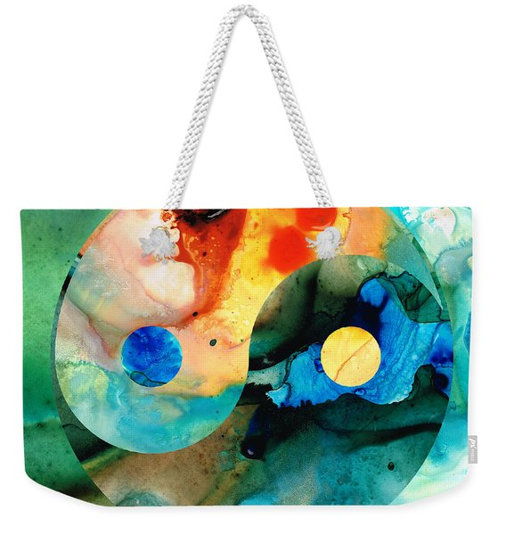 Earth Balance - Yin And Yang Art Weekender Tote Bag