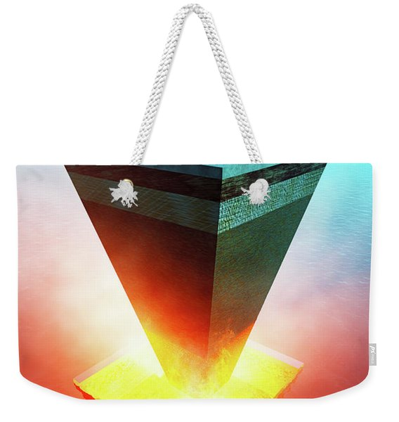 Earth Core Structure Cross-section Weekender Tote Bag