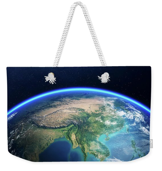 Earth From Space Asia View Weekender Tote Bag