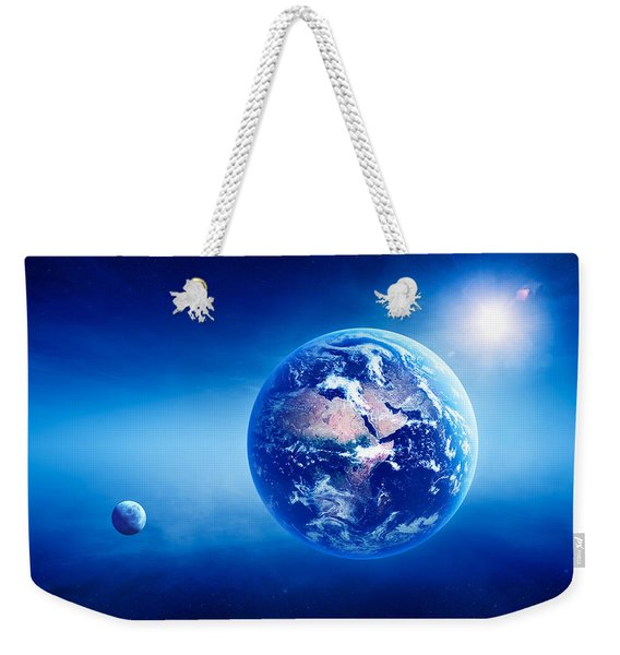 Earth Sunrise Deep Space Weekender Tote Bag