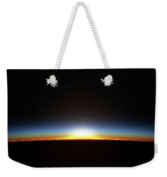 Earth Sunrise Through Atmoshere Weekender Tote Bag