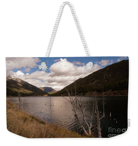 Earthquake Lake Weekender Tote Bag