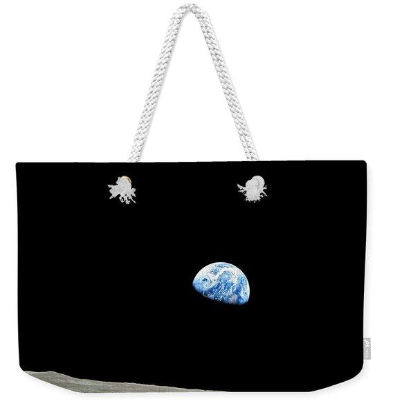 Earthrise - The Original Apollo 8 Color Photograph Weekender Tote Bag