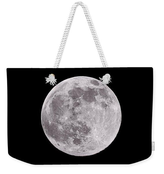 Earth's Moon Weekender Tote Bag
