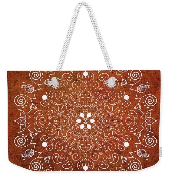 Earthtone Mandala Weekender Tote Bag