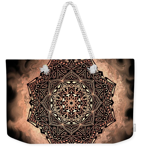 Earthy Mandala Weekender Tote Bag
