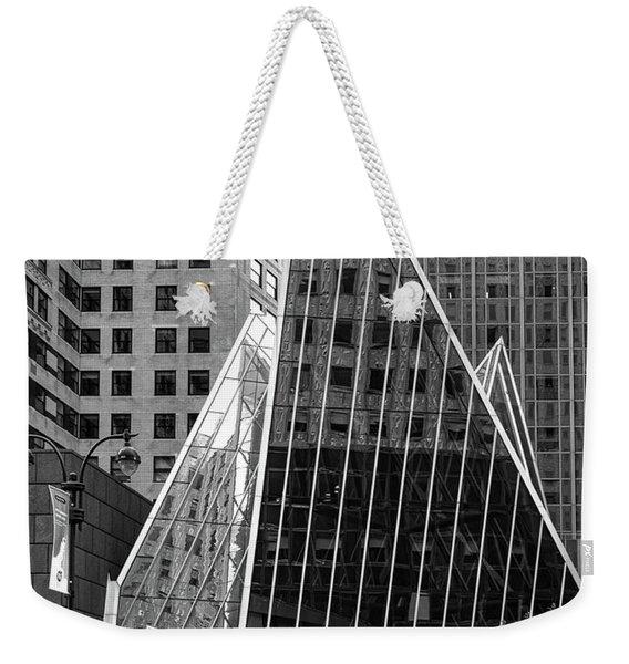 East 42nd Street, New York City  -17663-bw Weekender Tote Bag