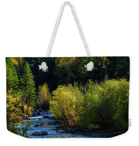 Weekender Tote Bag featuring the photograph East Fork Autumn by Jason Coward