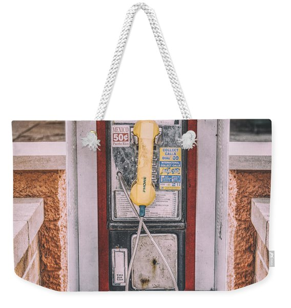 East Side Pay Phone Weekender Tote Bag