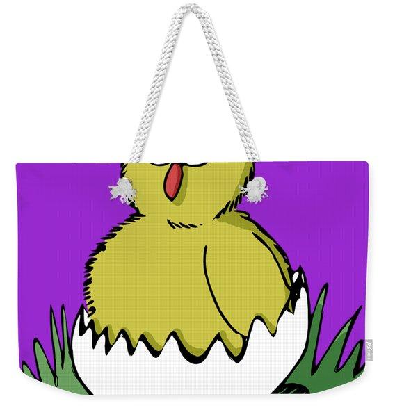 Easter Chicken Weekender Tote Bag