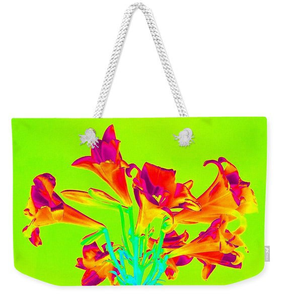 Vibrant Lilies Weekender Tote Bag