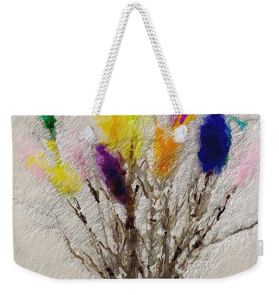 Easter Tree- Abstract Art By Linda Woods Weekender Tote Bag