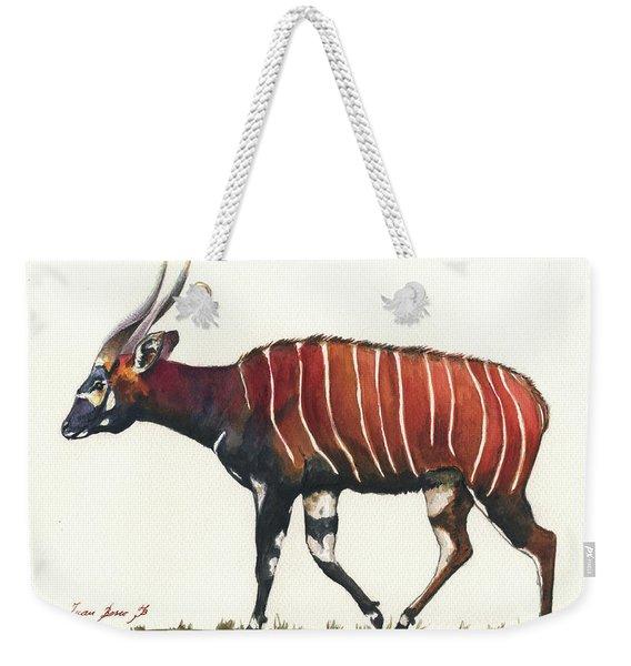 Eastern Bongo  Weekender Tote Bag