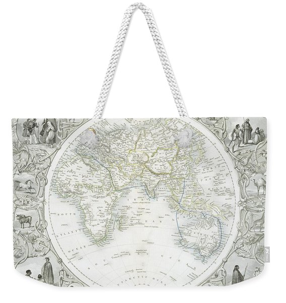 Eastern Hemisphere Weekender Tote Bag