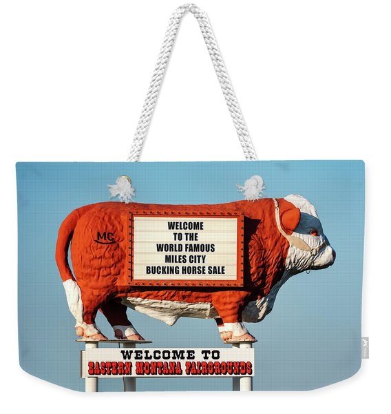 Fairgrounds Cow Weekender Tote Bag
