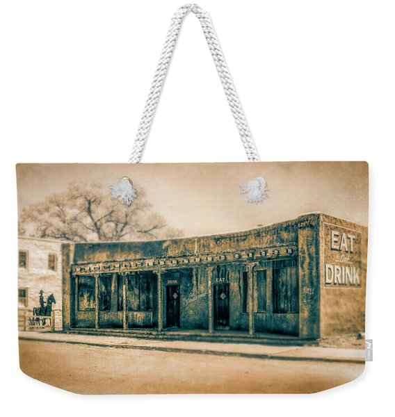 Eat And Drink Weekender Tote Bag