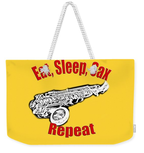 Eat Sleep Sax Repeat Weekender Tote Bag