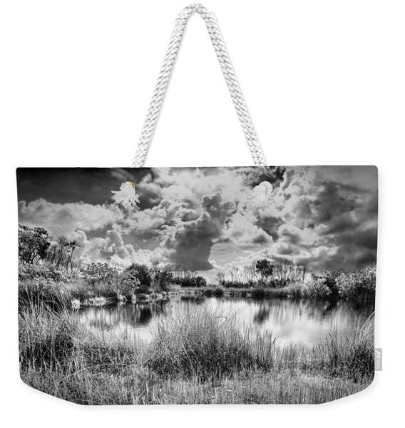Everglades Lake 5678bw Weekender Tote Bag