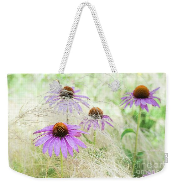 Echinacea In The Grass Weekender Tote Bag