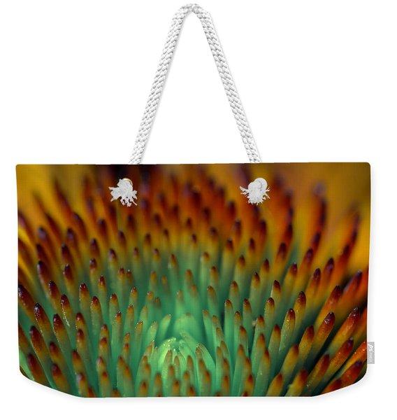 Echinacea Macro Weekender Tote Bag