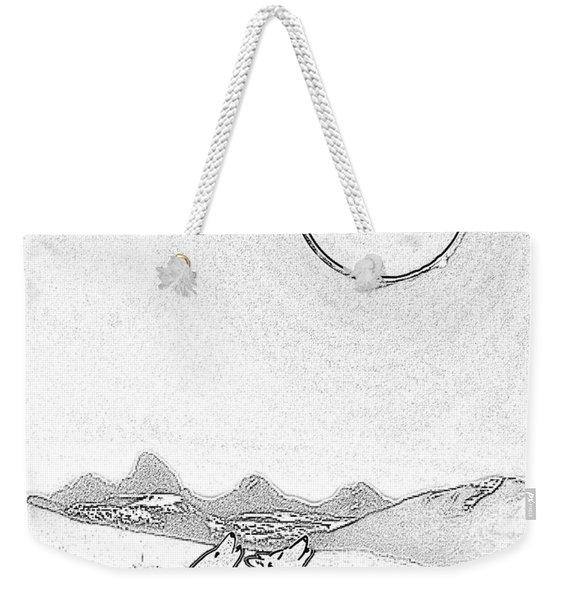 Eclipcse Graphic Pen Outline Weekender Tote Bag