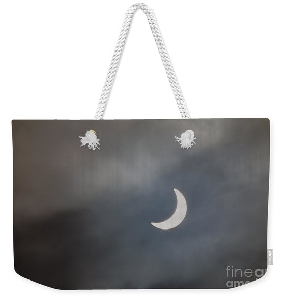 Weekender Tote Bag featuring the photograph Eclipse 2015 - 2 by Jeremy Hayden