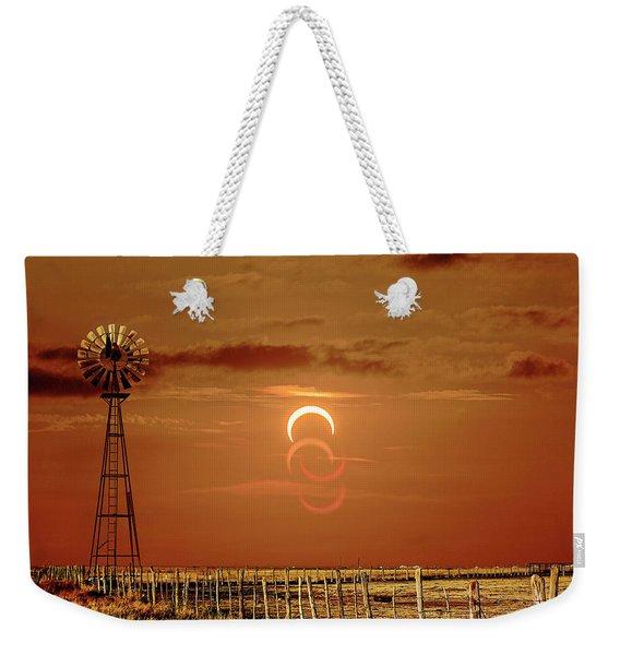 Eclipse And Lens Flares Weekender Tote Bag
