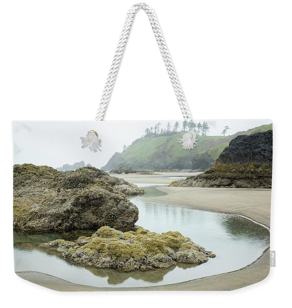 Weekender Tote Bag featuring the photograph Ecola Tidepool by Tim Newton