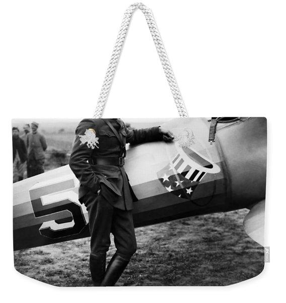 Eddie Rickenbacker - Ww1 American Air Ace Weekender Tote Bag