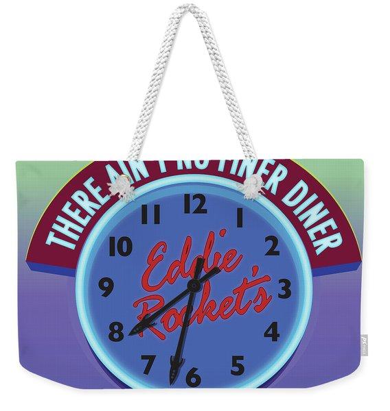 Eddie Rocket Clock Weekender Tote Bag