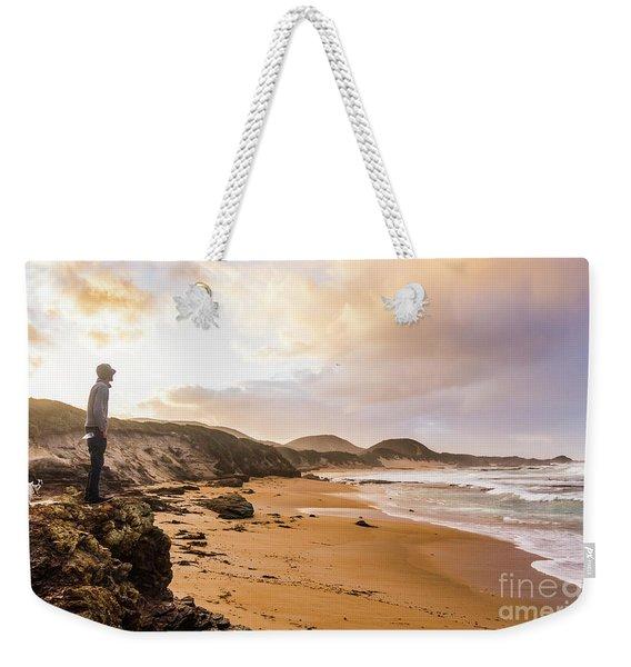 Edge Of Western Shores Weekender Tote Bag