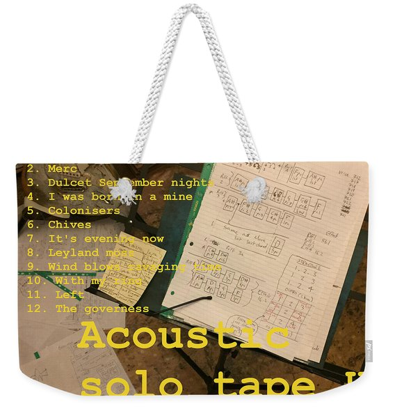 Edgeworth Acoustic Solo Tape H Weekender Tote Bag