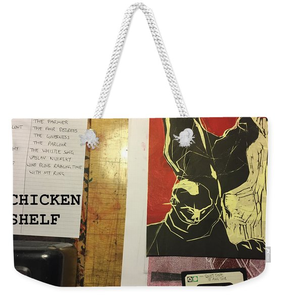 Edgeworth Chicken Shelf Cover Weekender Tote Bag