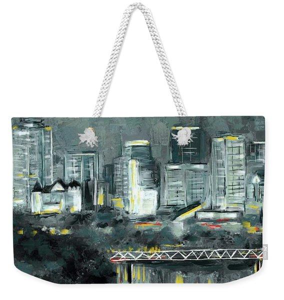 Edmonton Cityscape Painting Weekender Tote Bag