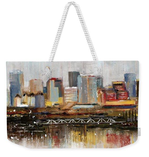 Edmonton Skyline Abstract1 Weekender Tote Bag