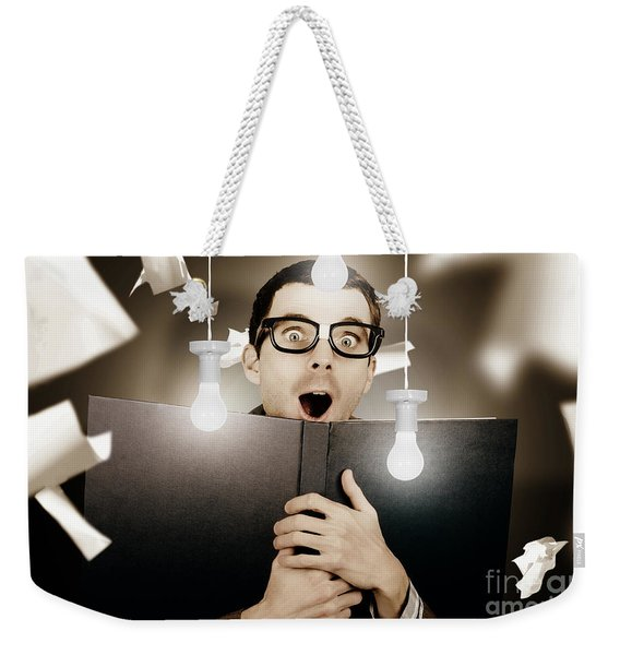 Education Smart Man Learning Bright Idea Weekender Tote Bag