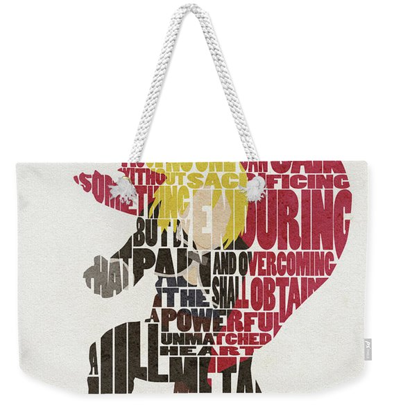 Edward Elric Typography Art Weekender Tote Bag