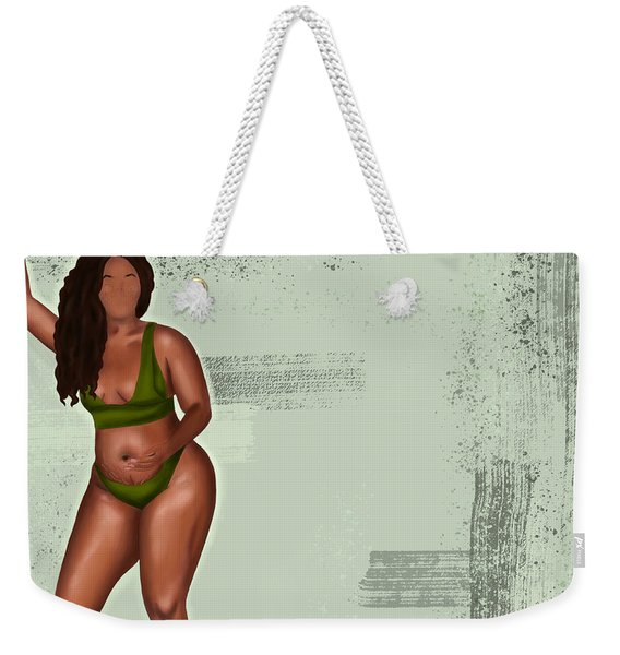 Weekender Tote Bag featuring the digital art Eff Your Beauty Standards by Bria Elyce
