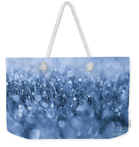 Effervescent Layered Blues Weekender Tote Bag