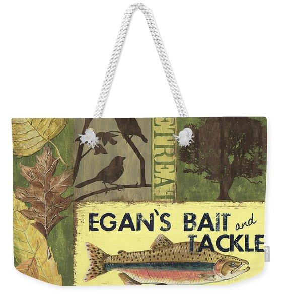 Egan's Bait And Tackle Lodge Weekender Tote Bag