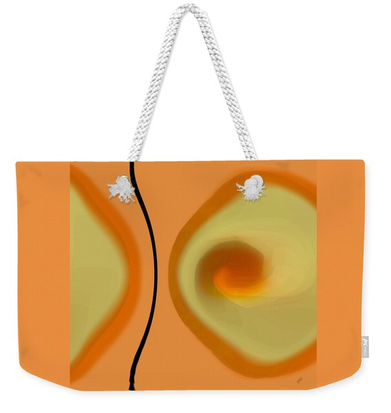 Egg On Broken Plate Weekender Tote Bag