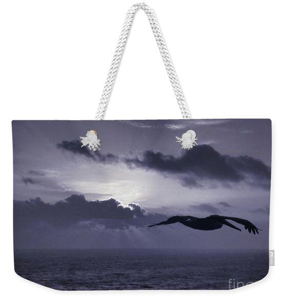 Pelican At Sunrise Weekender Tote Bag