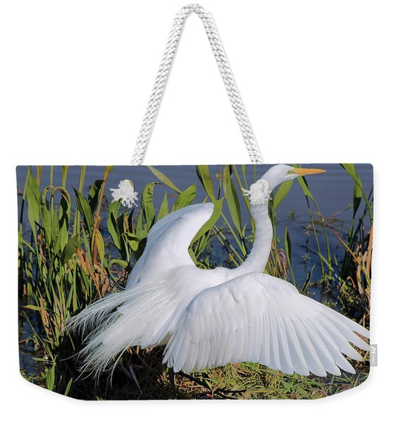 Egret Display Weekender Tote Bag