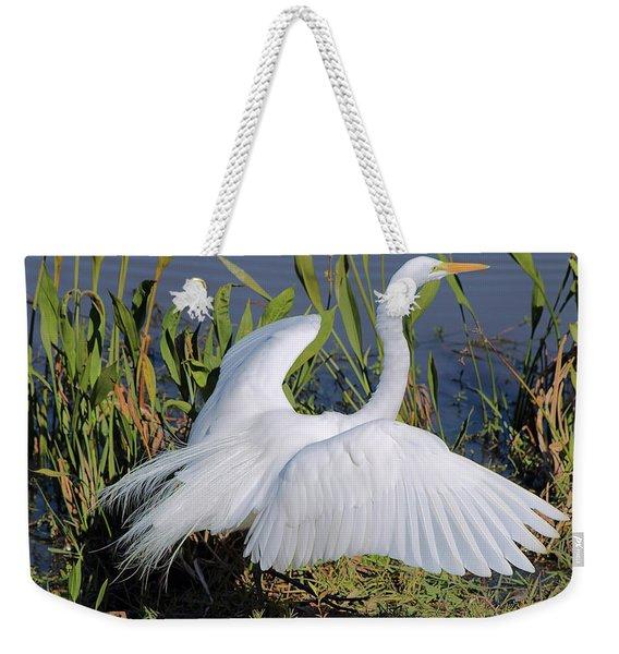 Egret Display Weekender Tote Bag